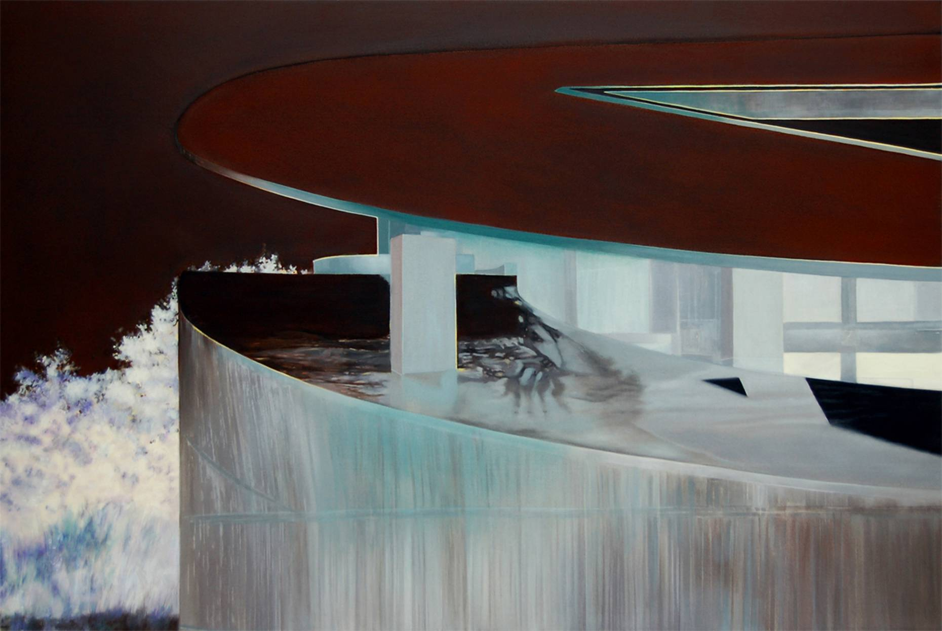 Utopia 2010 Aquarell und Kunstharz a/Nessel 160 x 240 cm