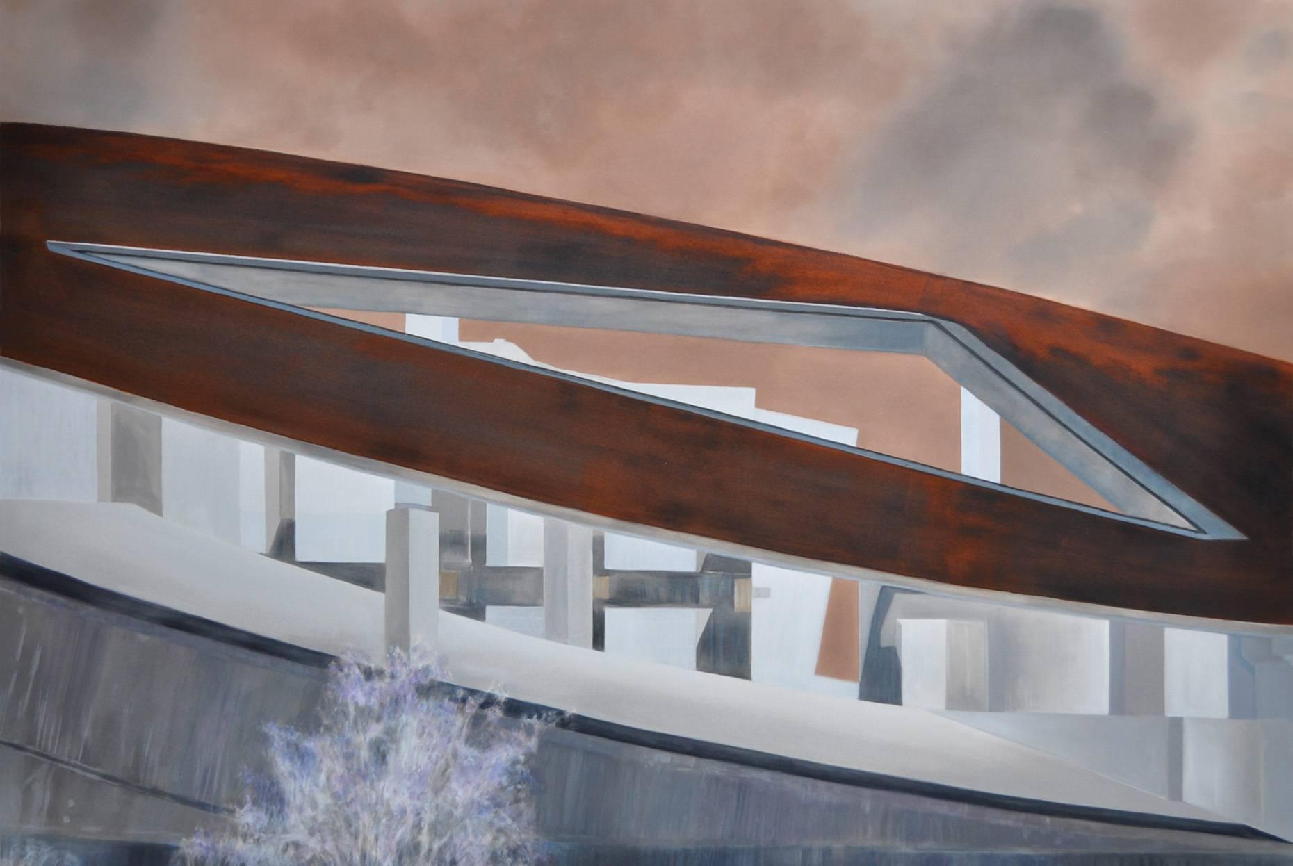 Concrete II 2017 Aquarell und Kunstharz a/Nessel 140 x 210 cm