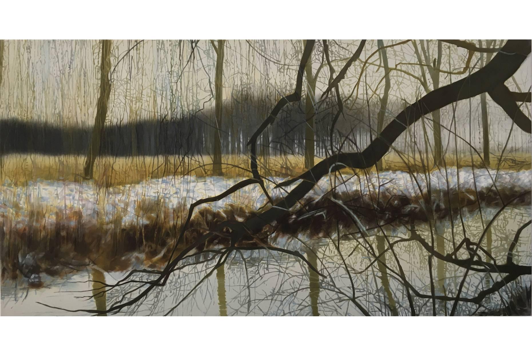 Geäst 2009-2010 Acrylfarbe a/Nessel 90 x 170 cm