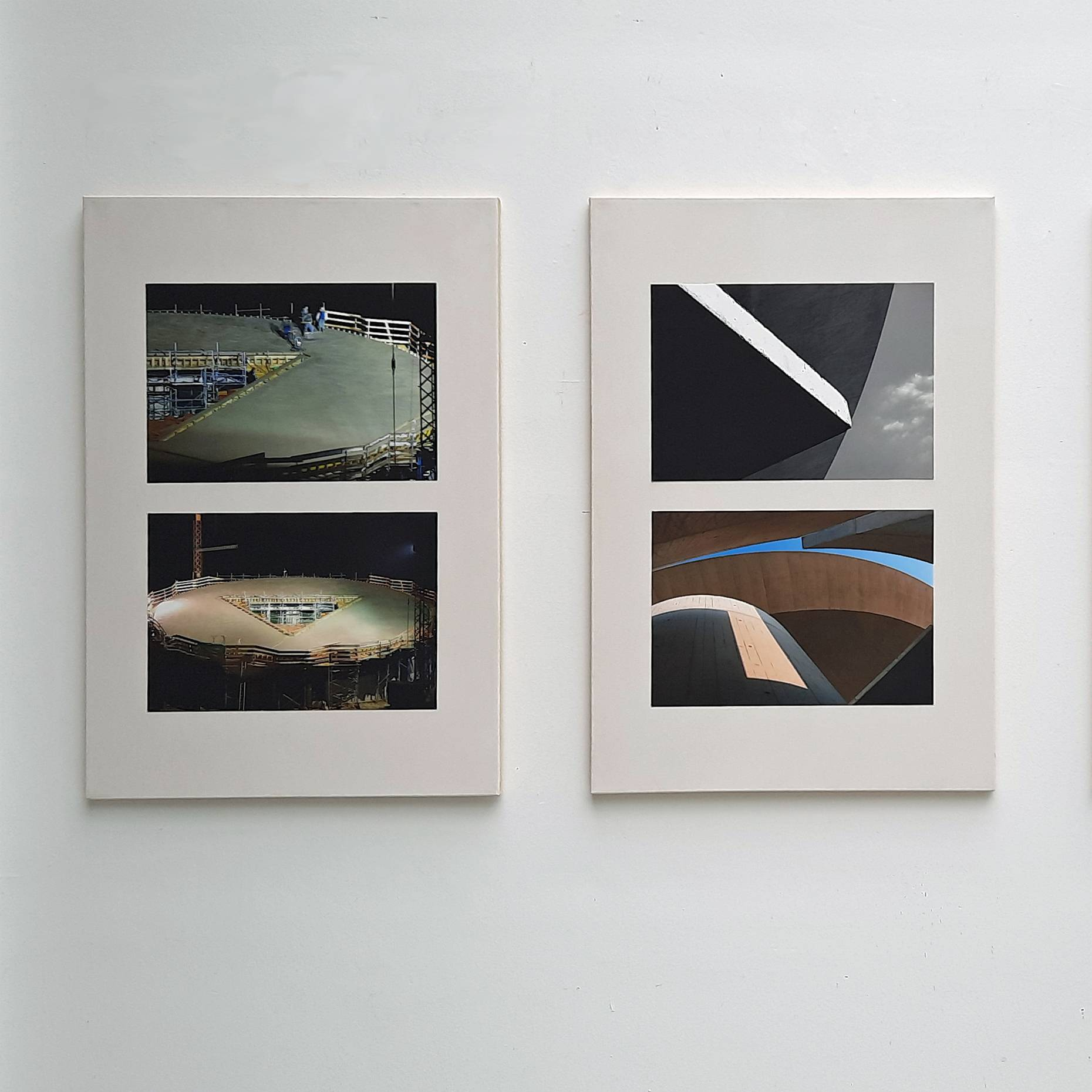 Haus für Musiker 2010-17 Je 2 Fotografien Ultrachrome K3 Tinte a/Canson Infinity 210g/qm aufkaschiert a/Leinwand je 90 x 60 cm